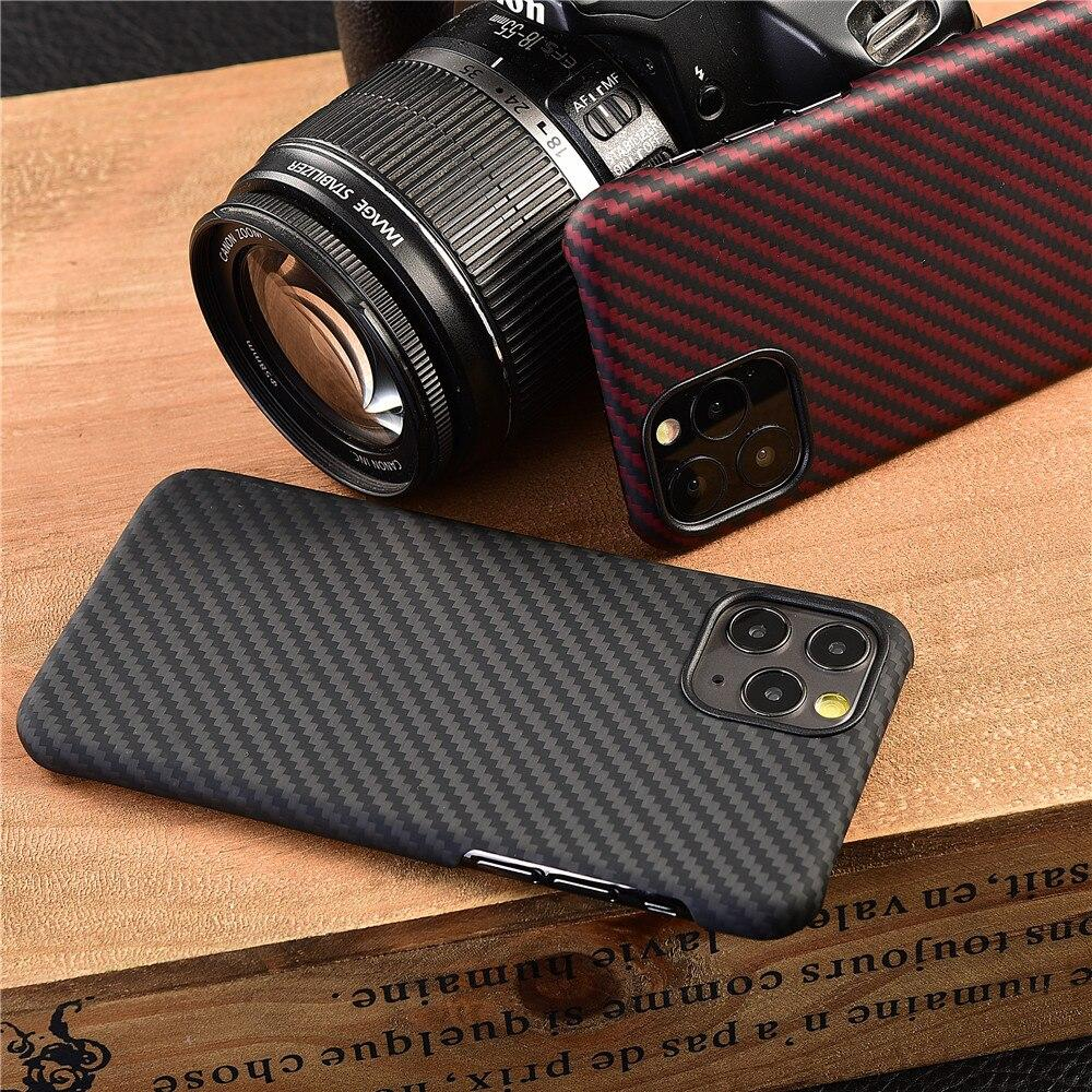Real Carbon Fiber protective case for apple iphone 11 pro max - nerdygeektoys.com