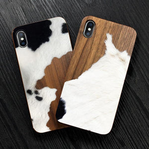Real Wood Hand Painted Phone Case for iPhone - nerdygeektoys.com