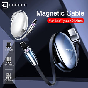 Retractable Magnetic USB Cable For iPhone Samsung - nerdygeektoys.com