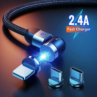 Rotating Magnetic Phone Cable Fast Charger