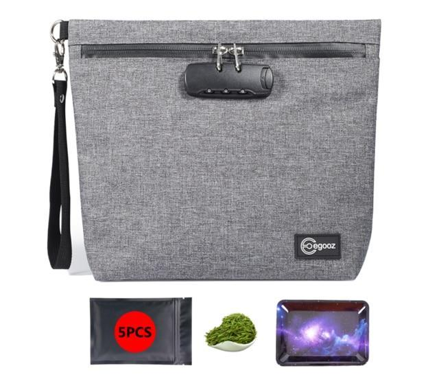 Smell Proof Bag with Combination Lock Odor Proof Stash Case Container for Herbs; Medicine Lock Box Bag Travel Storage Case - nerdygeektoys.com