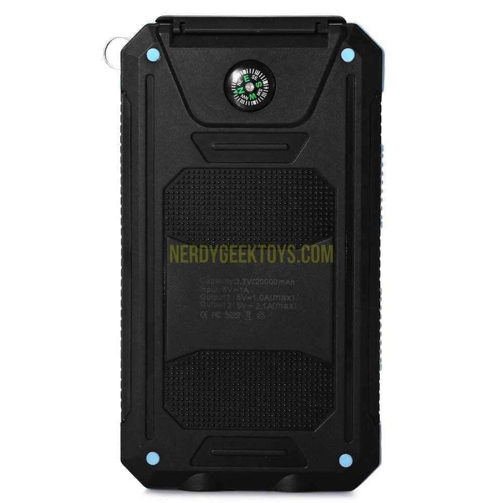 Solar 20000mah Power Bank Charger Rugged - nerdygeektoys.com