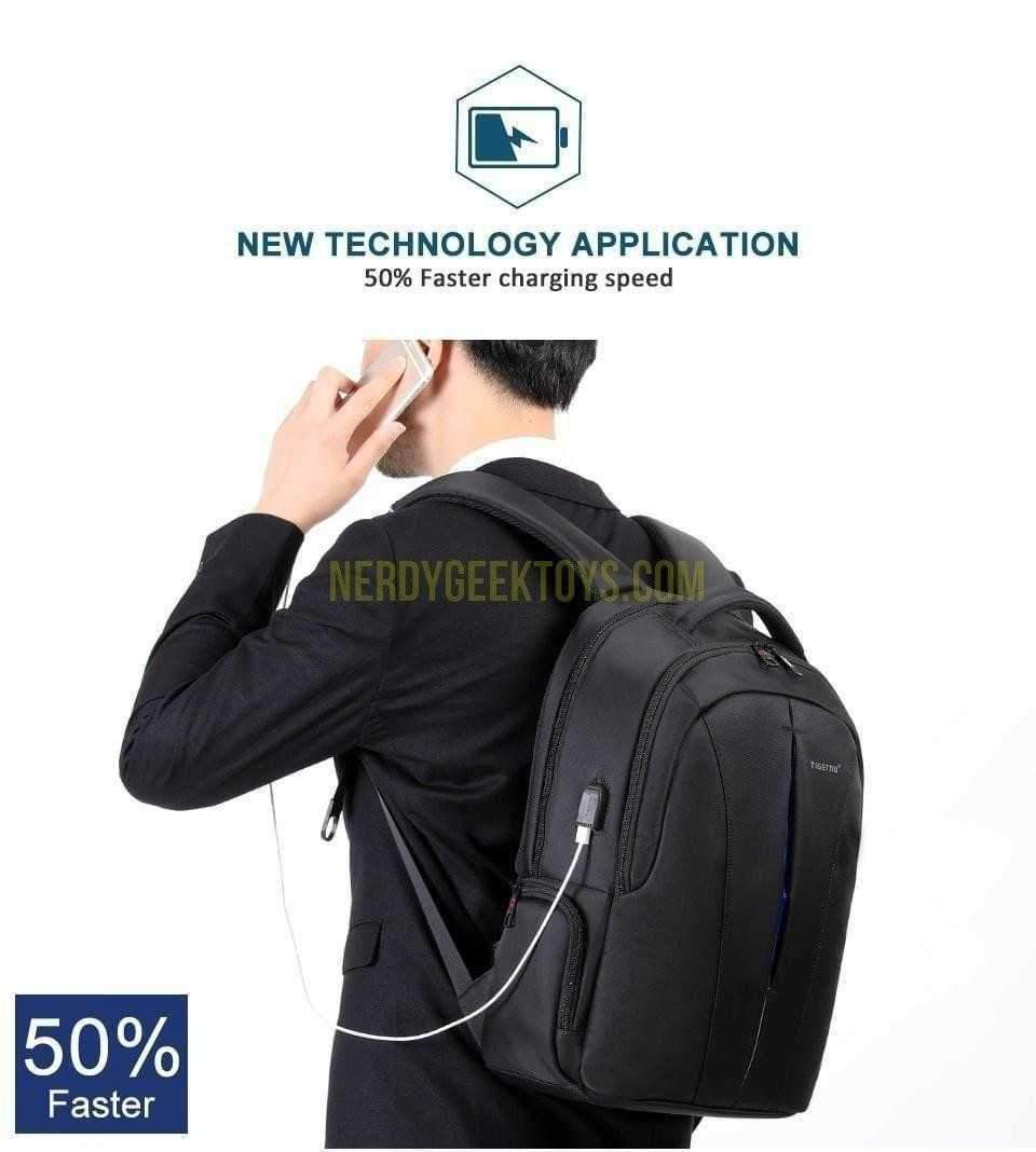 Splash proof 15.6inch Laptop Backpack Locking Zippers - nerdygeektoys.com