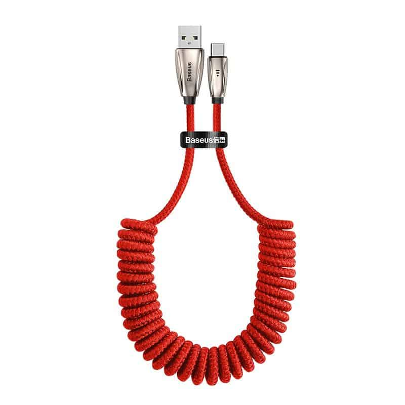 USB Type C Cable Fast Charging Spring Cord - nerdygeektoys.com