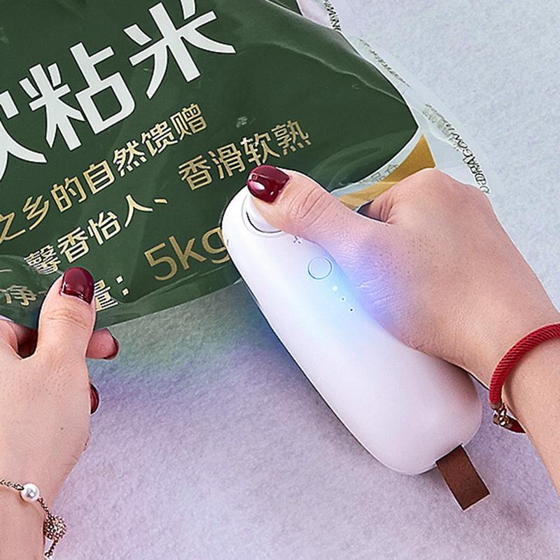Usb Charging Portable Plastic Bag Sealing Machine Cordless Handheld Sealer - nerdygeektoys.com
