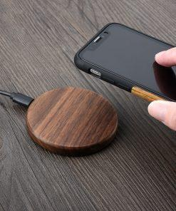 Walnut Wood Wireless Charger - nerdygeektoys.com