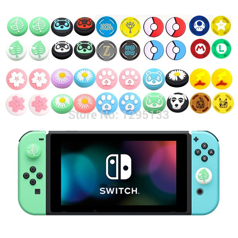 4 pcs Analog Thumb Grips Caps Cover for Nintendo Switch