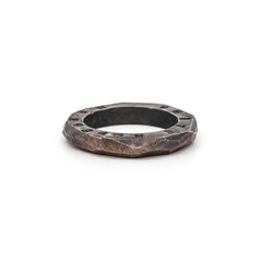 Oxidized Sterling Silver Geodesic Ring