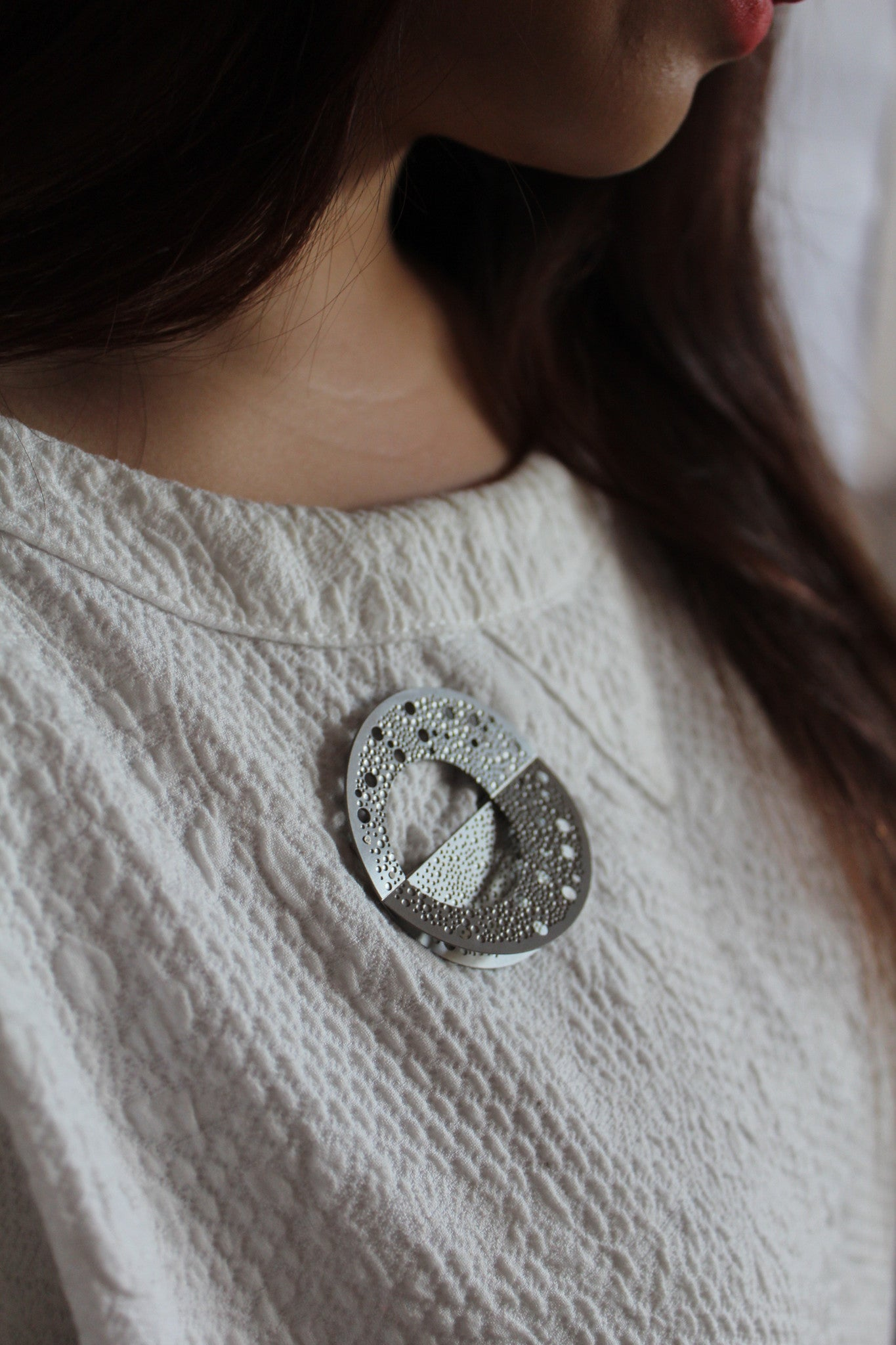 SILVER MILKY WAY BROOCH