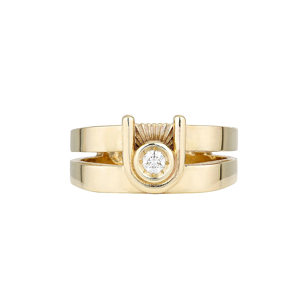 ZIGGY OPEN SIGNET RING