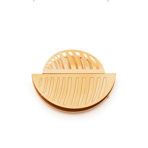GOLD CALYPSO BROOCH