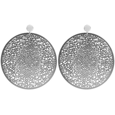 SILVER HALLEY EARRINGS