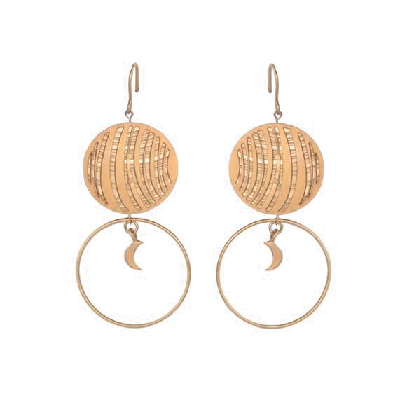 GOLD VENUS HOOP EARRINGS
