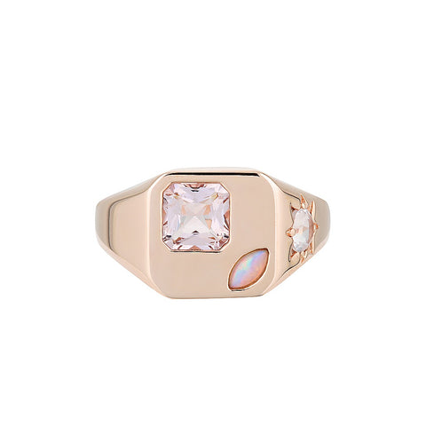 ERIDANI SOLITAIRE RING  - MORGANITE
