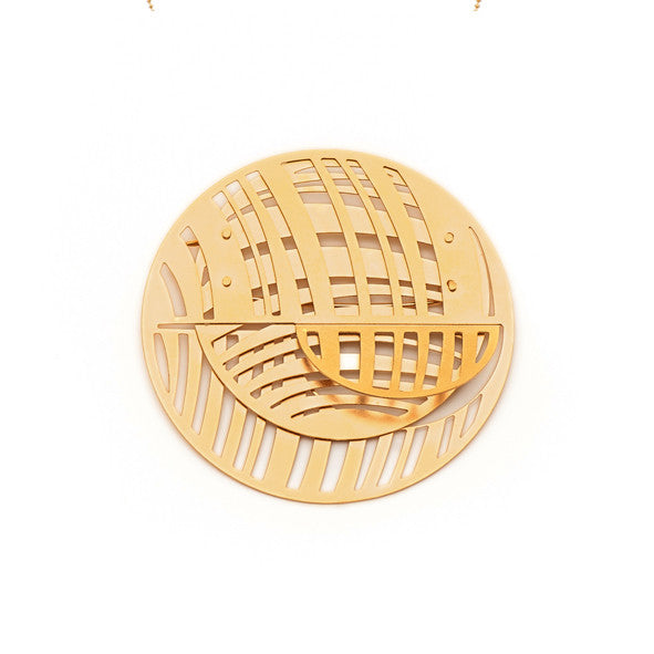 GOLD JUPITER BROOCH