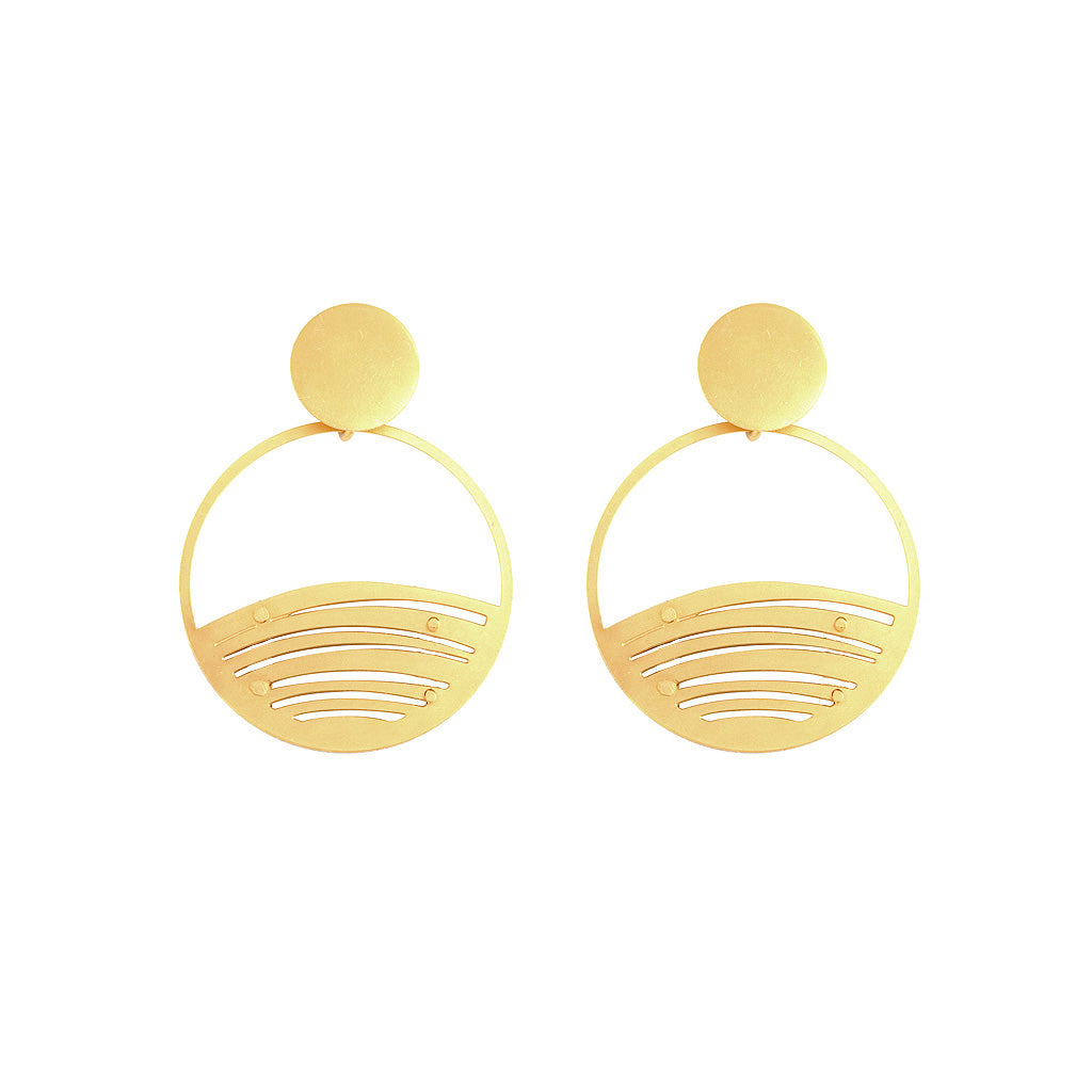 GOLD MINI PALMYRA EARRINGS