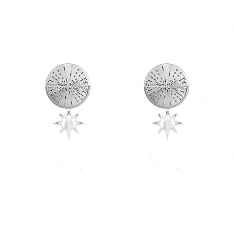 SILVER TYCHO EARRINGS