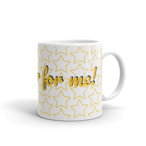 """Gold star for me"" mug"