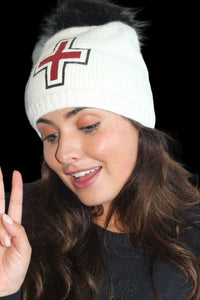 Luxe Swiss Cross Beanie  - SnowsBest Exclusive