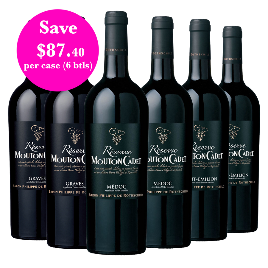 Bordeaux Reds Mixed Case Mouton Cadet