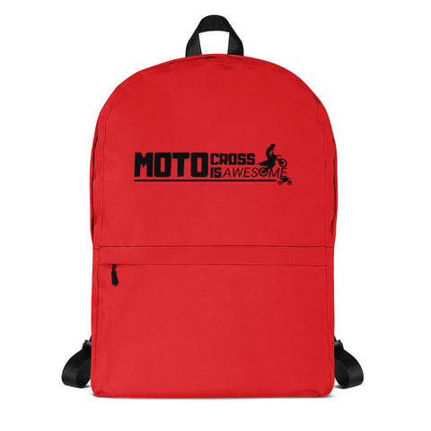 Motocross Is Awesome Backpack (Red)