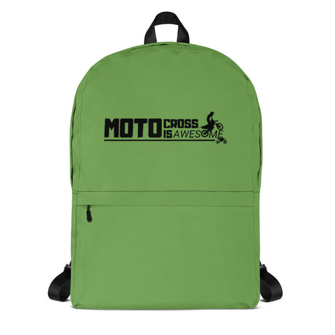 Motocross Is Awesome Backpack (Green)
