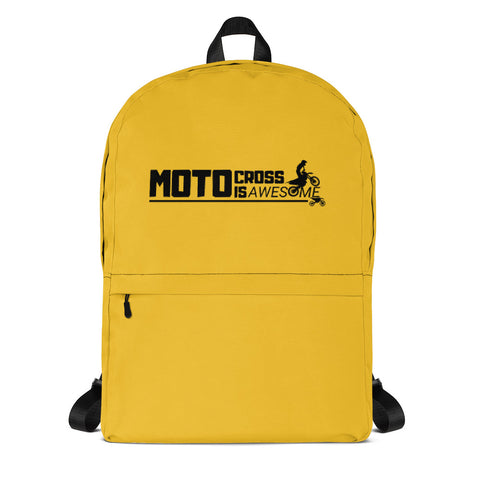 Motocross Is Awesome Backpack (Yellow)