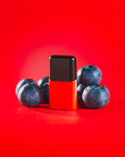 Load image into Gallery viewer, LUU nicotine free juice blueberry pod with blueberries