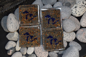 Great Lakes Coasters - Resin with Lake Superior Stones