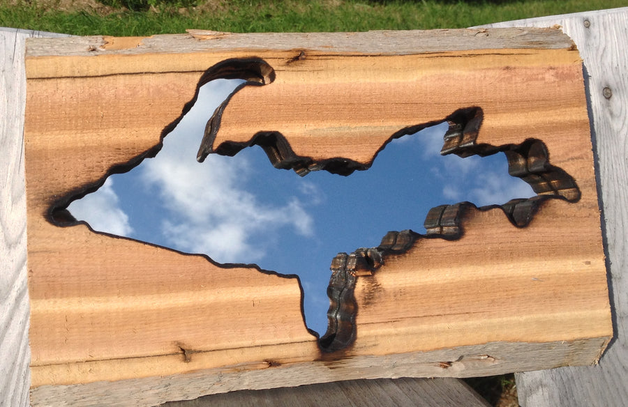 Reclaimed Eastern Red Cedar UP Mirror