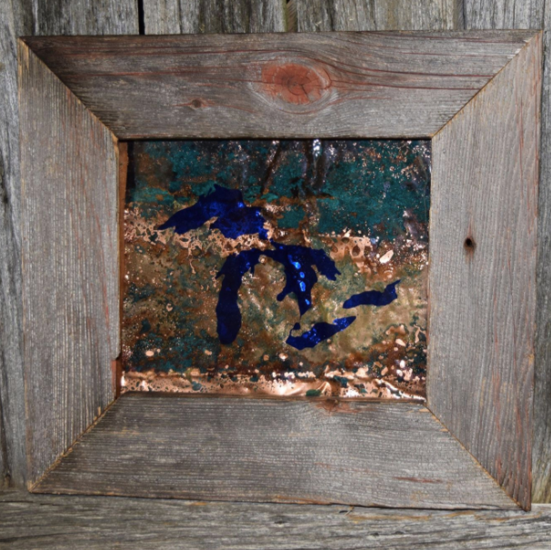 Copper Wall Art - Blue Great Lakes