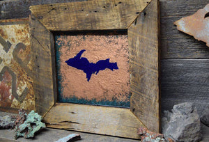 Copper Wall Art - Blue UP