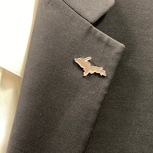 UP Silhouette Lapel Pin