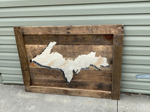 Reclaimed Wooden UP Wall Art