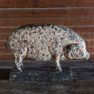 Folk Art Metalwork Pig
