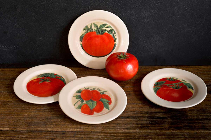 Tomato Appetizer Plate - Set of 4