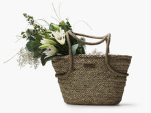 Load image into Gallery viewer, Seagrass Market Tote with Linen Liner