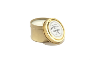 Apothecary 2 Ounce Gold Tin Travel Collection Candle