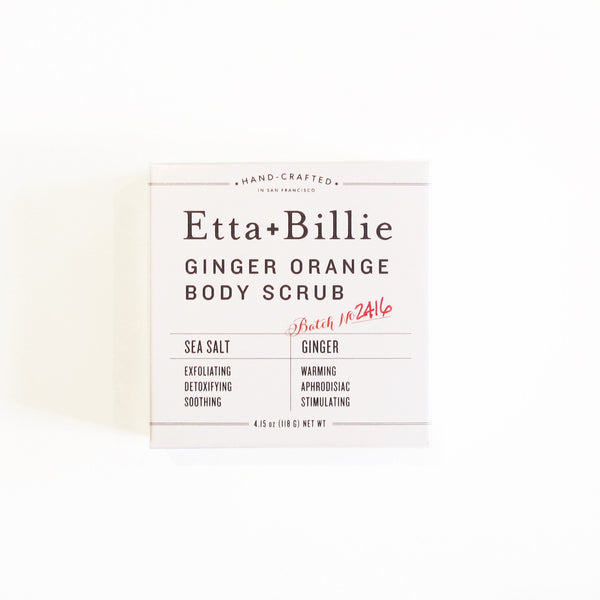 Etta + Billie Ginger Orange Body Scrub