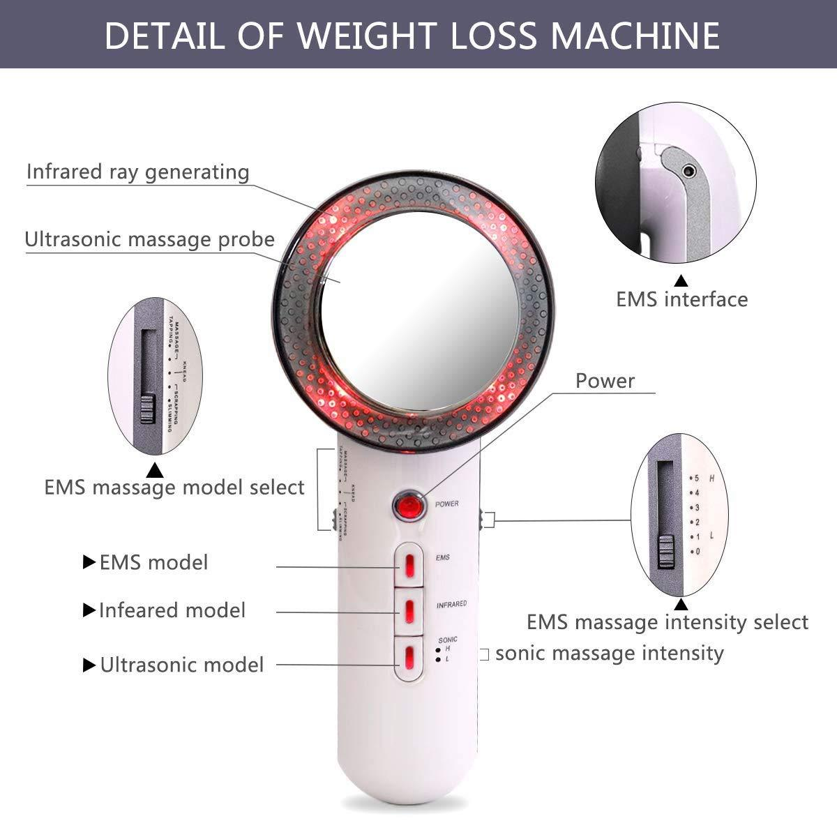 Face Lifting 3 in 1 EMS Infrared Ultrasonic Body Massager Device