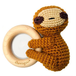 LittleCuddlers Sloth Teething Rattle