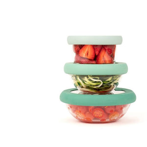 Food Huggers Lids Set/3 Gradual Green (XS,S,M)