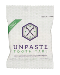 Unpaste toothpaste tablet pouch