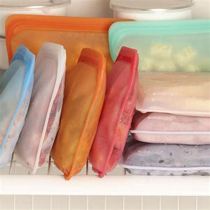 Stasher reusable silicon snack bags