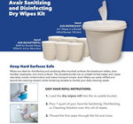 Avair Dry Sanitizing and Disinfecting Dry Wipe Starter Kit