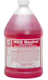 Spartan Chemical HDQ Neutral® 1 gal Citrus Scent Cleaner and Disinfectant (4 Per Case)