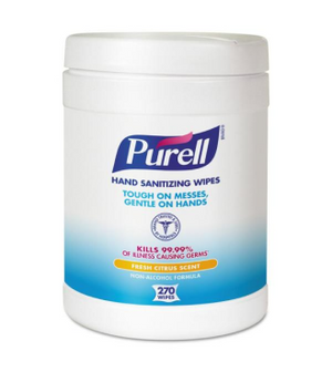 Load image into Gallery viewer, PURELL® Hand Sanitizing Wipes 6/270ct. Canister 9113-06