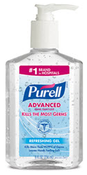 Purell® Hand Sanitizer 8 oz Bottles with Pump 12 bottles/per case
