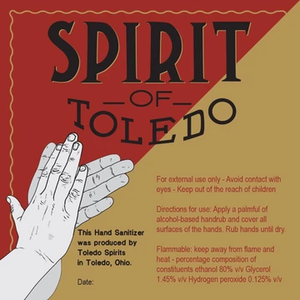 Spirit of Toledo - 80% Alcohol Hand Sanitizer - (24-6.5oz Bottles Per Case)