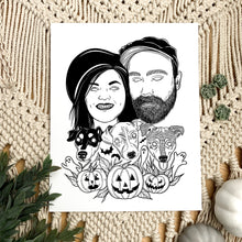 Load image into Gallery viewer, Custom Halloween Portrait